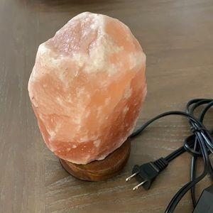 Real Himalayan salt rock lamp